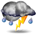 Today's Weather: Scattered Thunderstorms