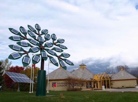 The Solar Tree at Tourism London is funded by an Ontario Power ...
