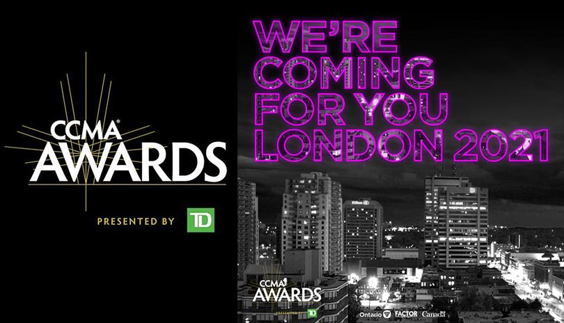 CCMA Awards logo - we're coming for you London 2020