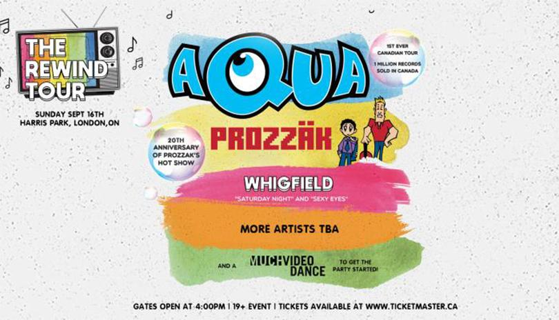 The Rewind Tour Feat. Aqua, Prozzak, Whigfield and More