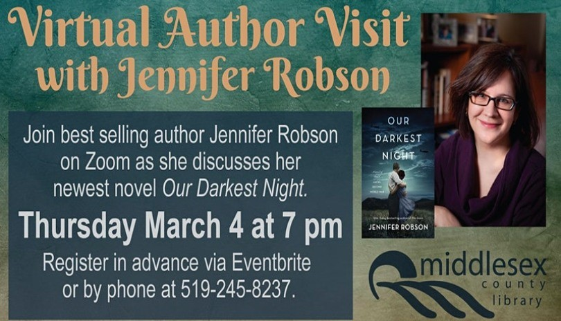 Virtual Author Visit with Jennifer Robson
