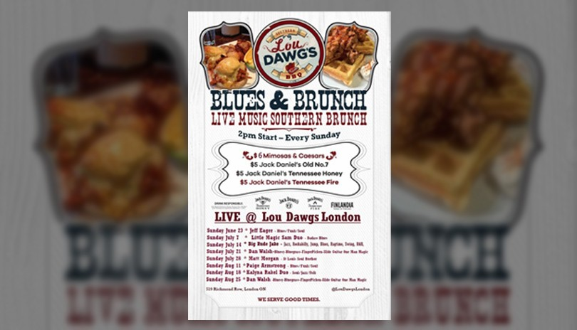 Live Blues & Southern Brunch Weekly at Lou Dawgs - June 7