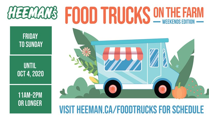 Food Trucks on the Farm - Weekends Edition September 25-27