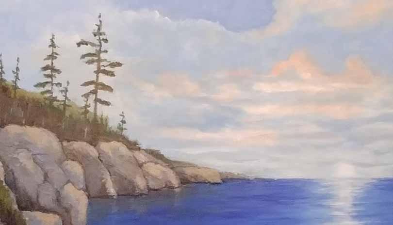 Acrylic Art Class Northern Landscape