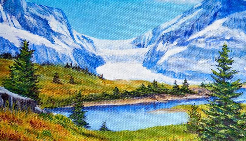 Acrylic Landscape Glacier