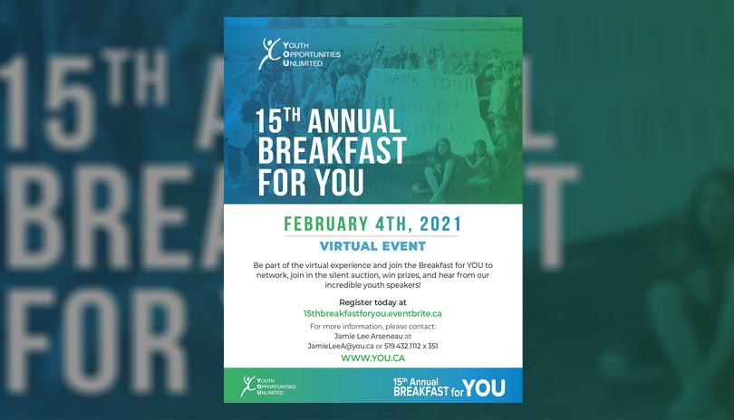 15th Annual Breakfast for YOU!