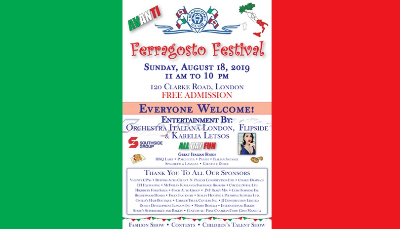 Ferragosto Festival at the Marconi Club