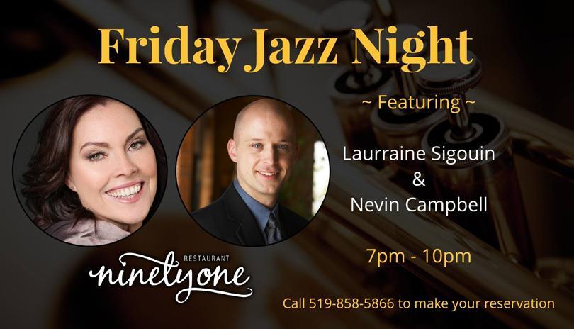 Friday Jazz Night ft. Laurraine Sigouin & Nevin Campbell