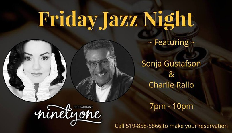 Friday Jazz Night ft. Sonja Gustafson & Charlie Rallo