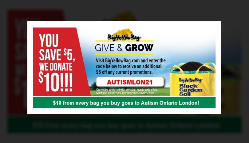 Big Yellow Bag Soil and Mulch Fundraiser- Autism Ontario London