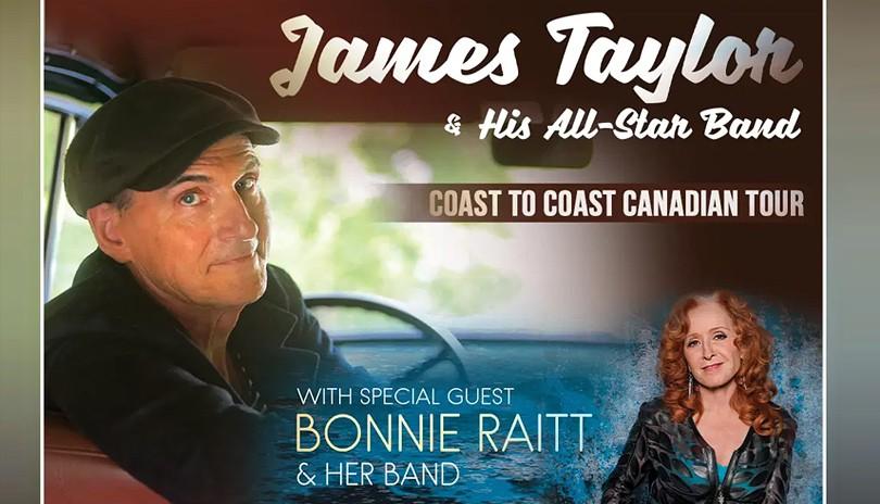 RESCHEDULED - James Taylor & His All-Star Band with Bonnie Raitt
