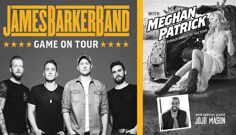 James Barker Band Game On Tour with Meghan Patrick & Jojo Mason