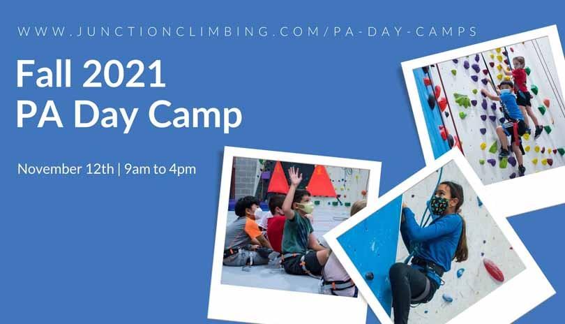 November PA Day Camp at Junction Climbing Centre