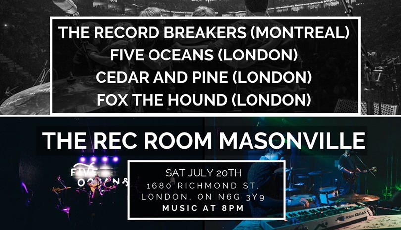 FIVE OCEANS, THE RECORD BREAKERS, FOX THE HOUND, CEDAR & PINE