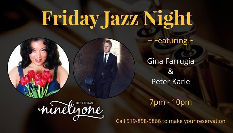 Friday Jazz Night featuring Gina Farrugia & Peter Karle
