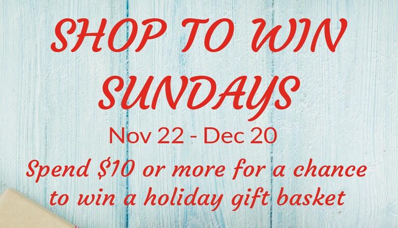Shop To Win Sundays