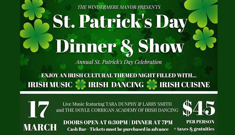 St. Patrick's Day Dinner & Show