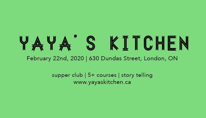 Yaya's Kitchen - Black History Month Supper Club ( Feb. 22)