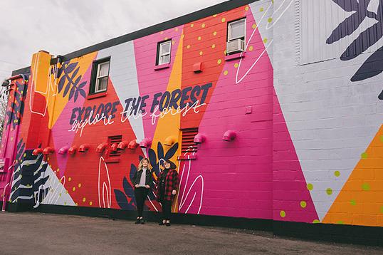 Hamilton Road's Neighbourhood Laundromat Café Mural