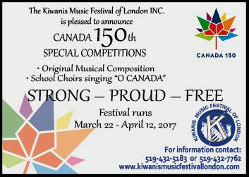 Kiwanis Celebrate Canada 150 Original Composition