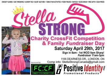 Stella Strong Charity CrossFit Competition and Family Fundraiser Day