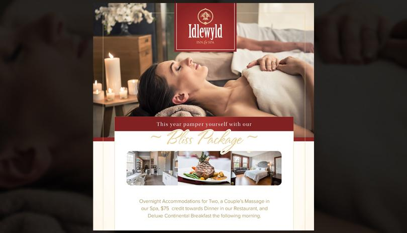 Bliss Package at Idlewyld Inn & Spa