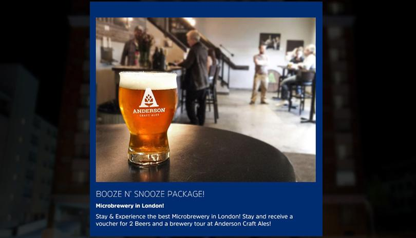 Booze N' Snooze Package at Holiday Inn Express & Suites London Downtown