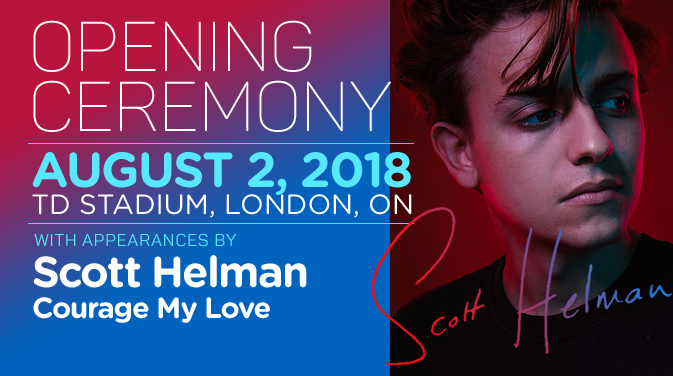 Scott Helman to headline Ontario Summer Games Opening Ceremony on Thursday, August 2nd