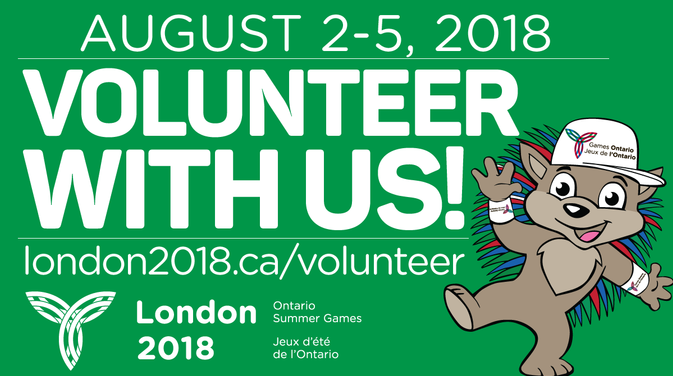 Volunteer Registration Now Open for the London 2018 Ontario Summer Games