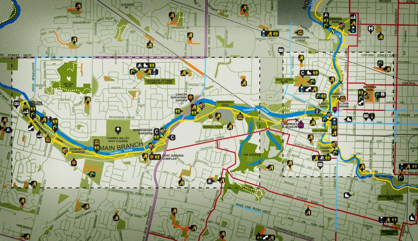 Tourism London - Downtown london map