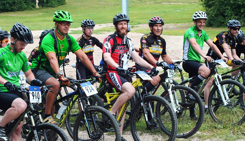mountain bikers ready for a ride
