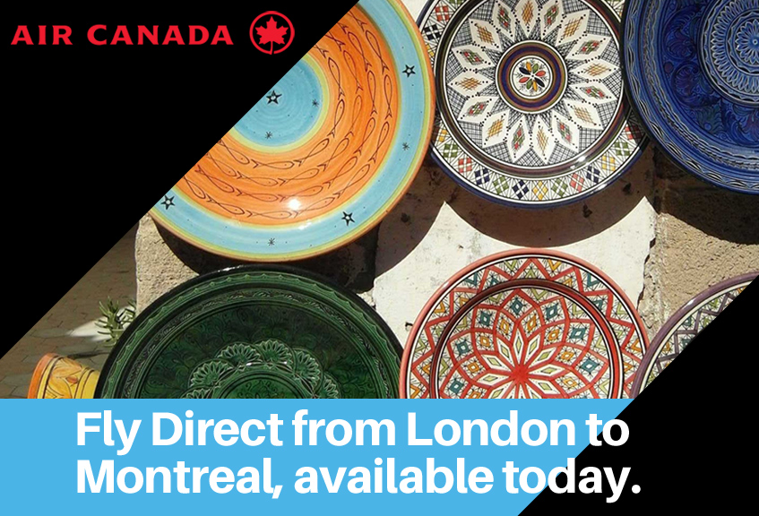 Fly Direct from London to Montreal, available today.